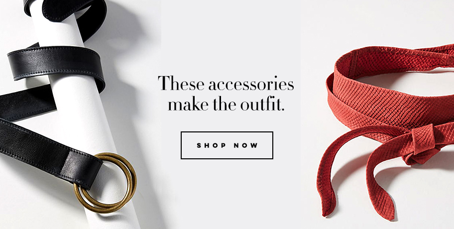 Accessories make the outfit belts wrap belts