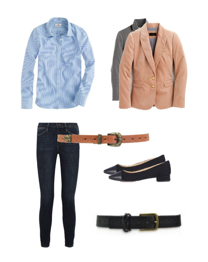 Workwear outfit | Women's Fashion Style | Genuine leather rose or black belt | Outfit inspiration | Fashion | ADA Collection