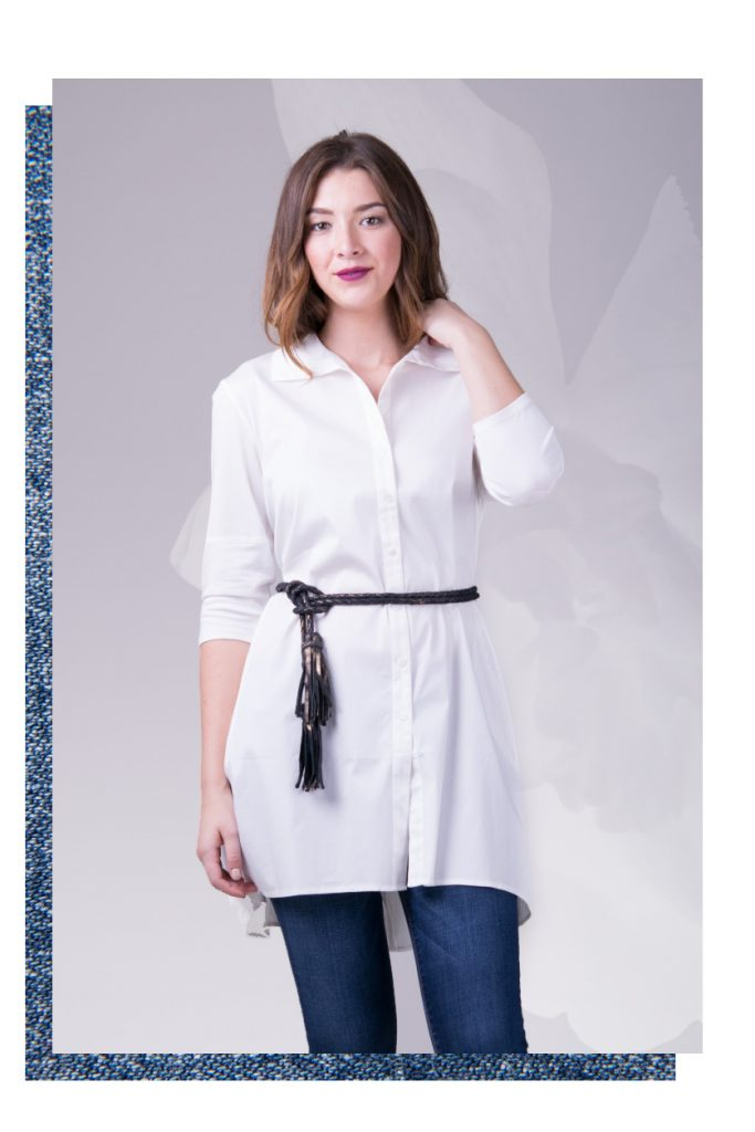 Styling Resolution - White tunic with a Fringe Soga belt